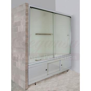 """Elegansa Шторка для ванны """"VORHANG"""" TR (3100) прозрачное стекло"""