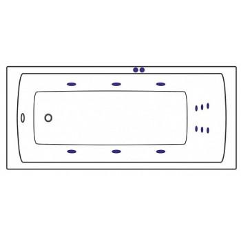 Sanjet Массажная система LINE SJ-LINE-GD золото