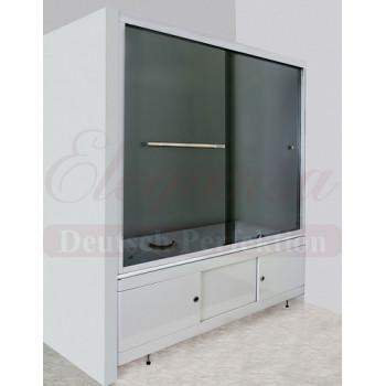 """Elegansa Шторка для ванны """"VORHANG"""" Grey (3100) тонированное стекло"""