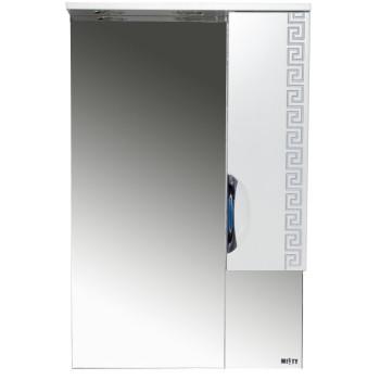 Misty Зеркало-шкаф Престиж 60 R белый/серебряная патина