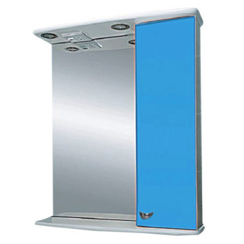 Misty Зеркальный шкаф Астра 50 R голубой