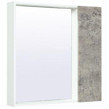 Runo Зеркало-шкаф для ванной Манхэттен 75 серый бетон