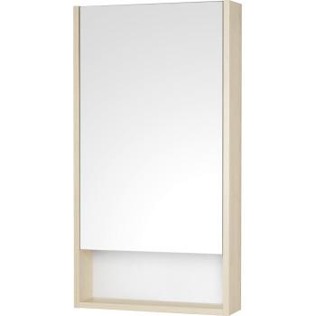 Акватон Зеркальный шкаф Сканди 45 дуб верона, белый