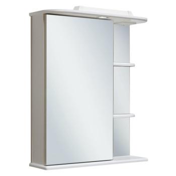 Runo Зеркальный шкаф Магнолия 50