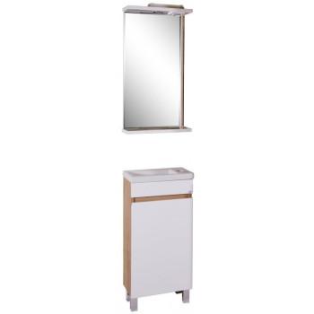 ASB-Mebel Мебель для ванной Марко 40 белый/дуб золотой