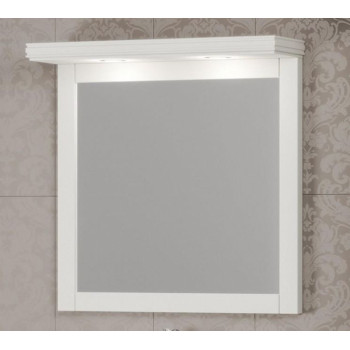 Opadiris Зеркало для ванной Мираж 80 с козырьком, слоновая кость
