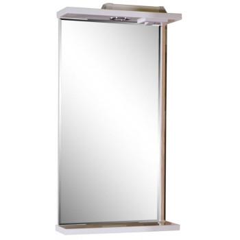 ASB-Mebel Зеркало Марко 40 белый/дуб золотой