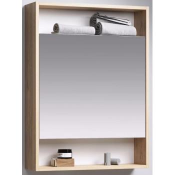 Aqwella Зеркало-шкаф для ванной Сити 60 дуб балтийский