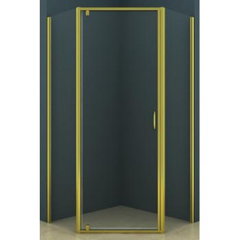 Azario Душевой уголок AZ-112P 100х100 золото